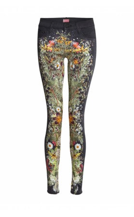 donna ida, london fashion, london style, paige jeans, patterned trousers, print jeans, skinny jeans
