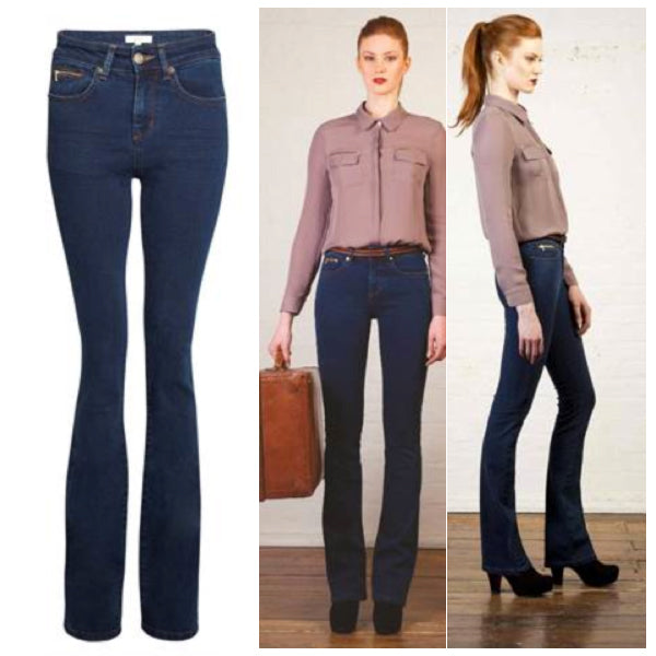 fashion blog ruth crilly, donna ida, london fashion, london style, bootcut jeans, blue jeans, flare jeans, blouse, shirt, collar, highwaisted denim, highwaisted jeans