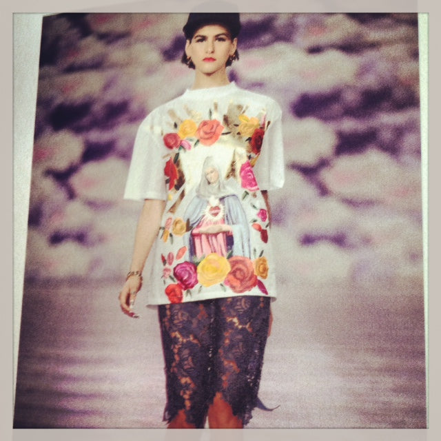 donna ida, london fashion, london style, paris, house of holland, henry holland, british elegance, grandly, printed tee, lace skirt