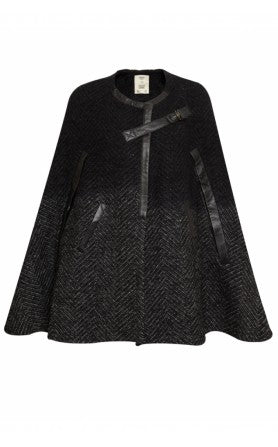 donna ida, london fashion, london style, pyrus gene cape, black cape