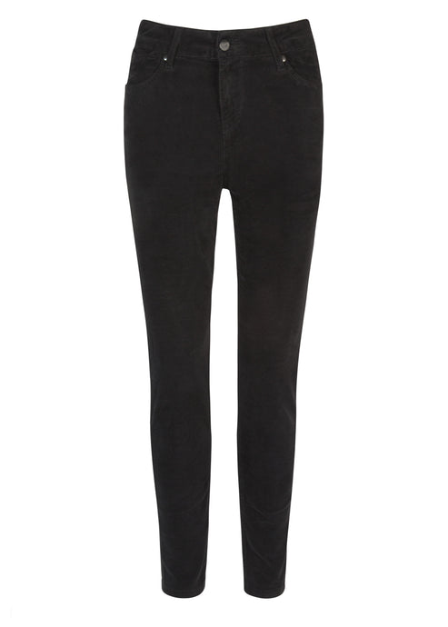 Rizzo High Top Ankle Skinny Jeans - Noir Velvet