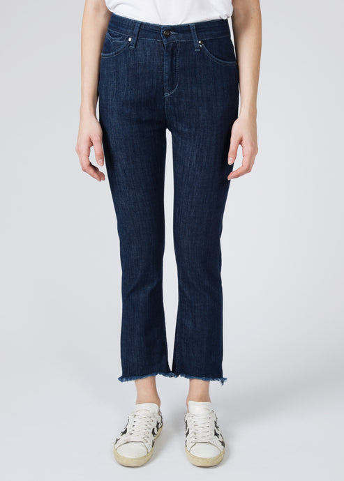 Sidney Cropped Straight Jeans - Shanghai Surprise