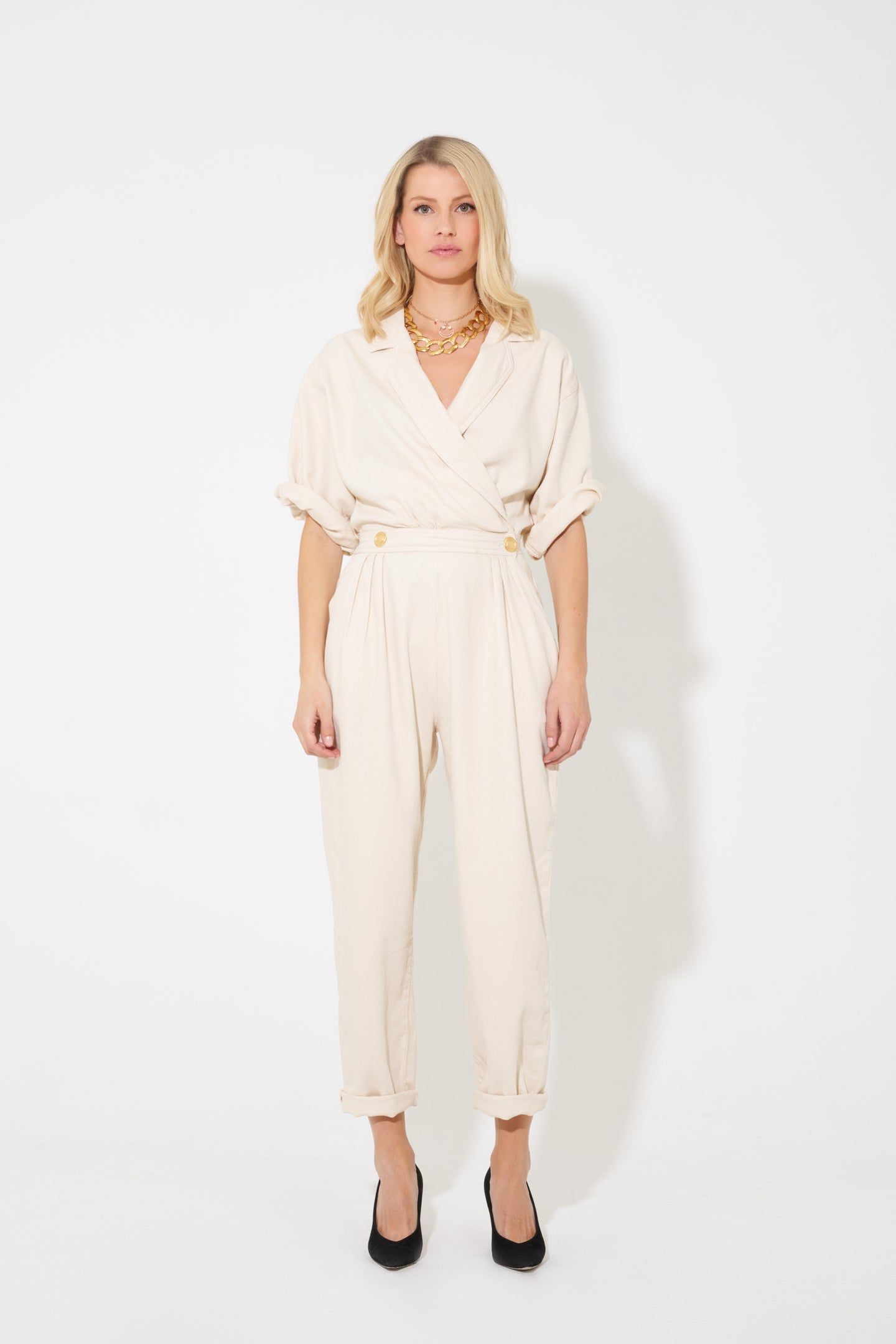 Wanda The Cross Over Power Jumpsuit - Sandy Hair Don't Care