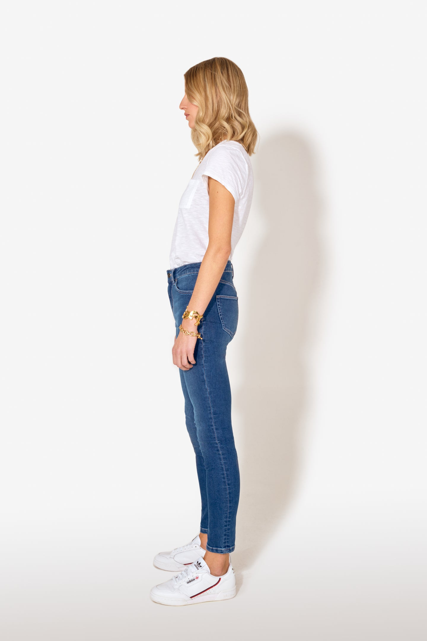 Rizzo The High Top Ankle Skinny - Fawcett Blue