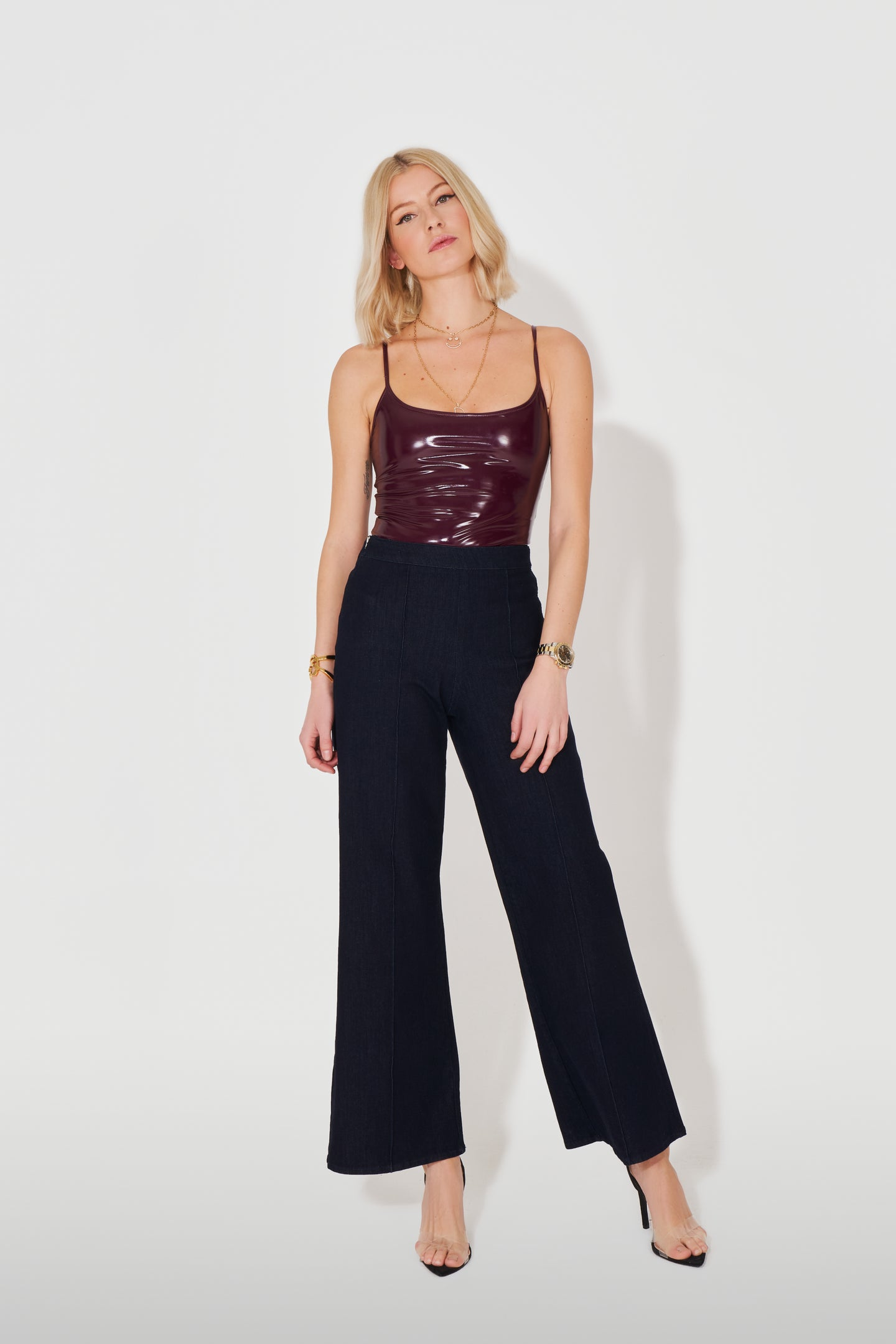 Ruby The High Top Pin Tuck Culotte - Feeling Blue