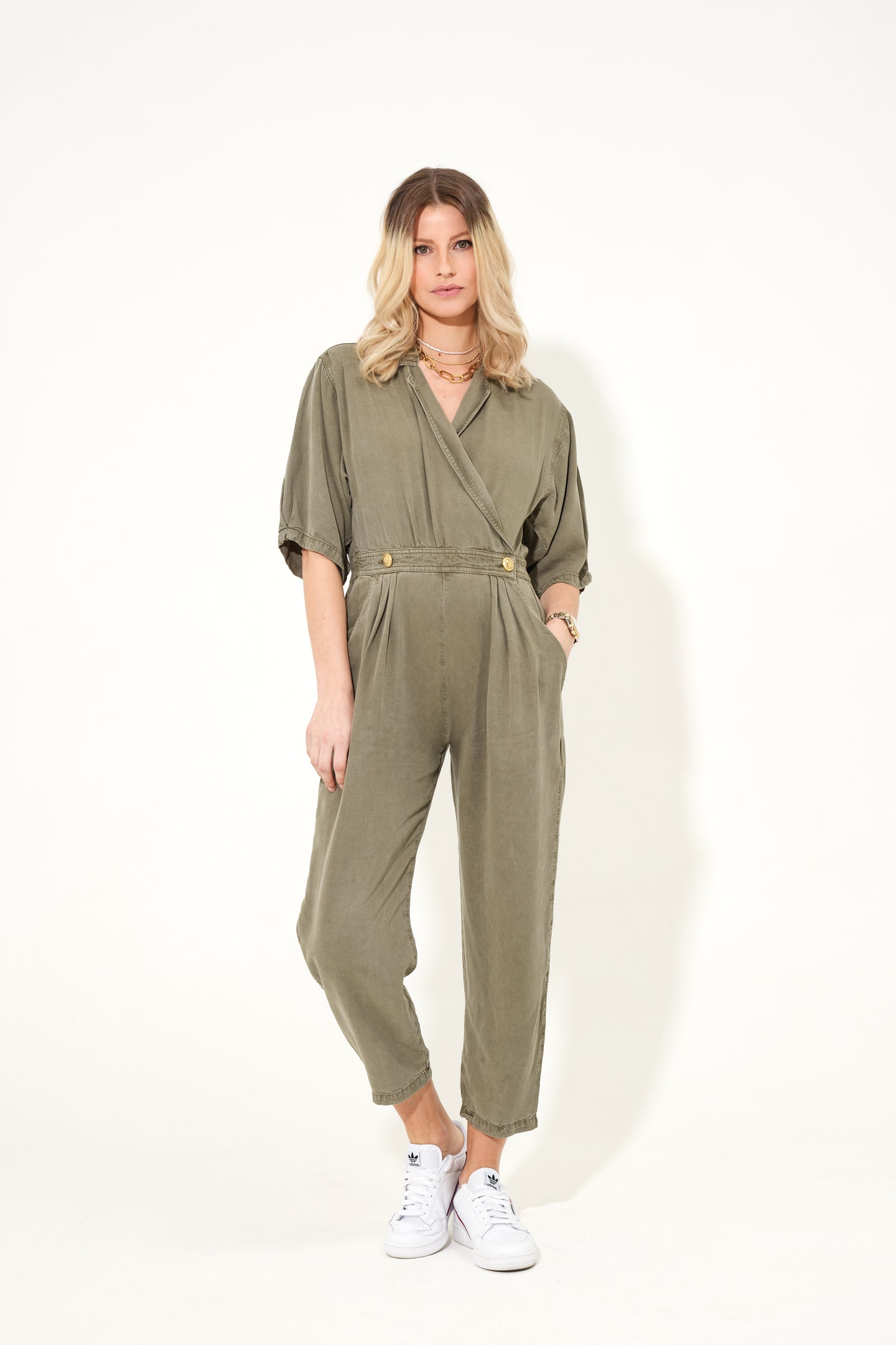 Wanda The Cross Over Power Jumpsuit - At Ease Private