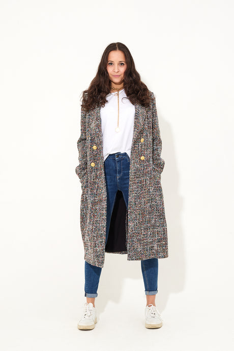 The Hustle Coat The Strong Woman Statement Coat - Technicolour Dream