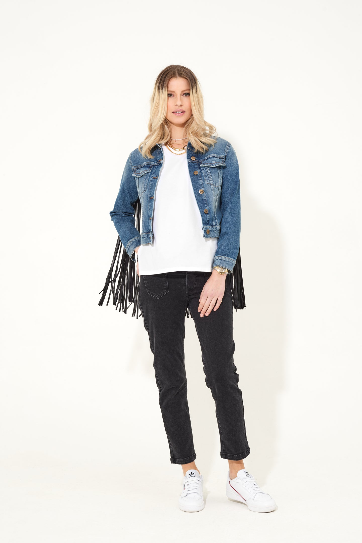 Fran The Patch Pocket Cropped Jean - Twilight