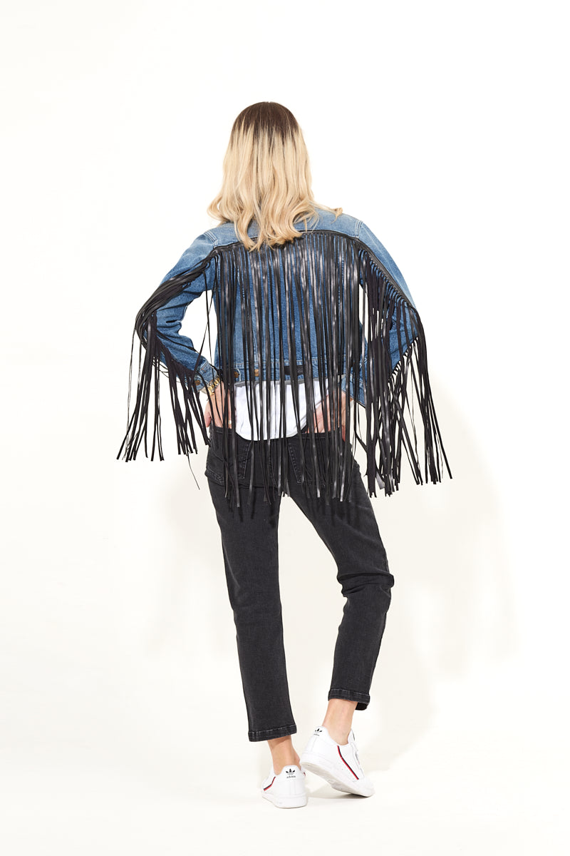 Backstage Pass The Classic Denim Jacket - Fringe Benefits
