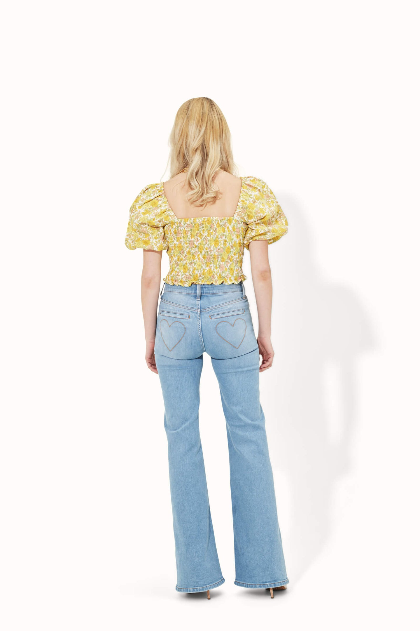 Delilah The High Top Patch Pocket Heart Throb Jeans - Summer Fling