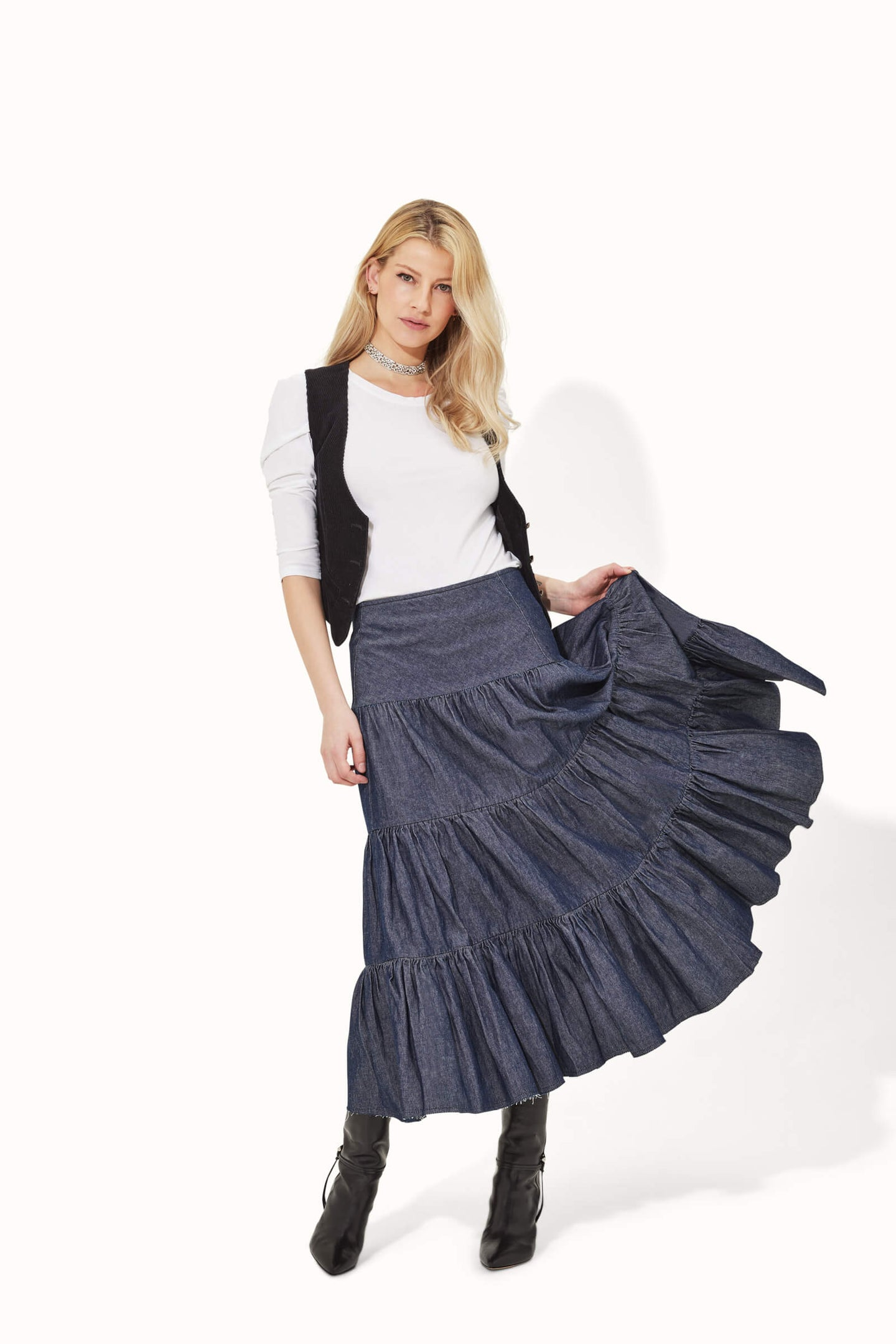 Veronica The Hip Hanging Swishy Skirt - Romantica