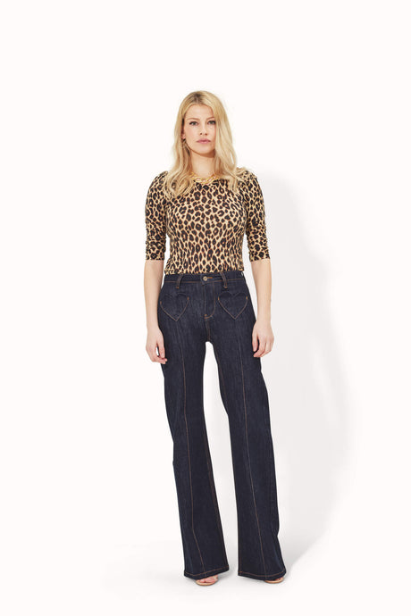 Delilah The High Top Patch Pocket Heart Throb Jeans - Be Still