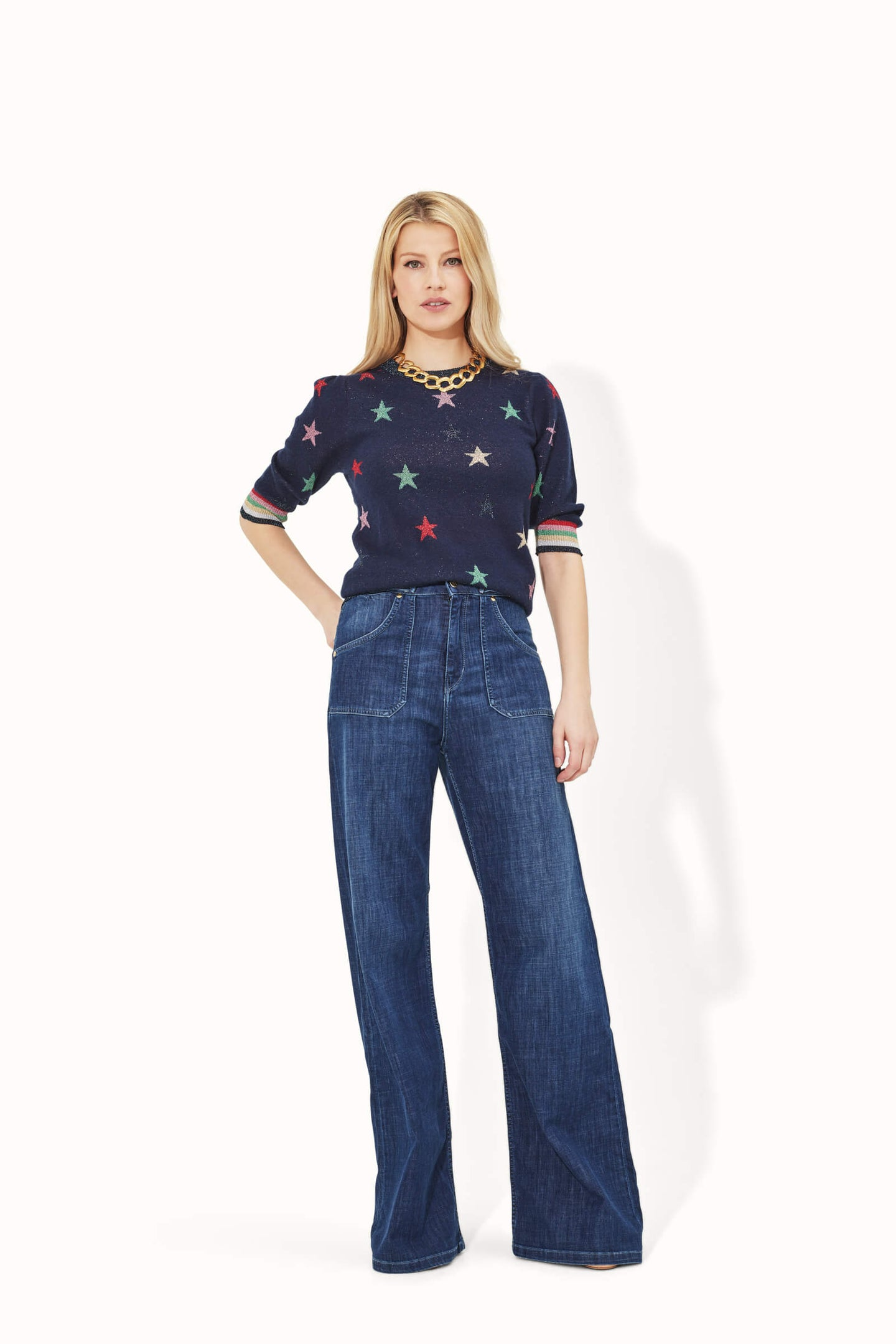 Minnie The High Top Flared Jeans - Moonlit Morning