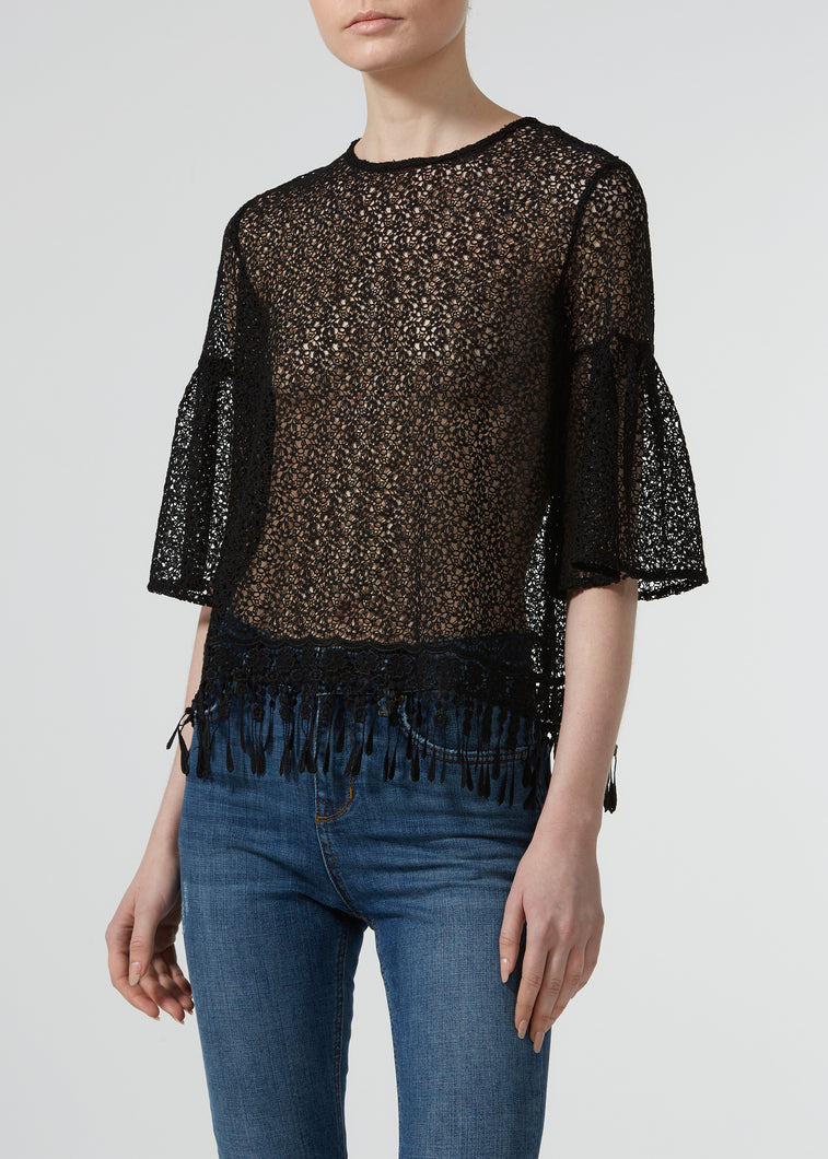 Arm Candy Blouse - Noir Lace