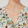Bohemia Blouse - Milk Enchanted Meadow