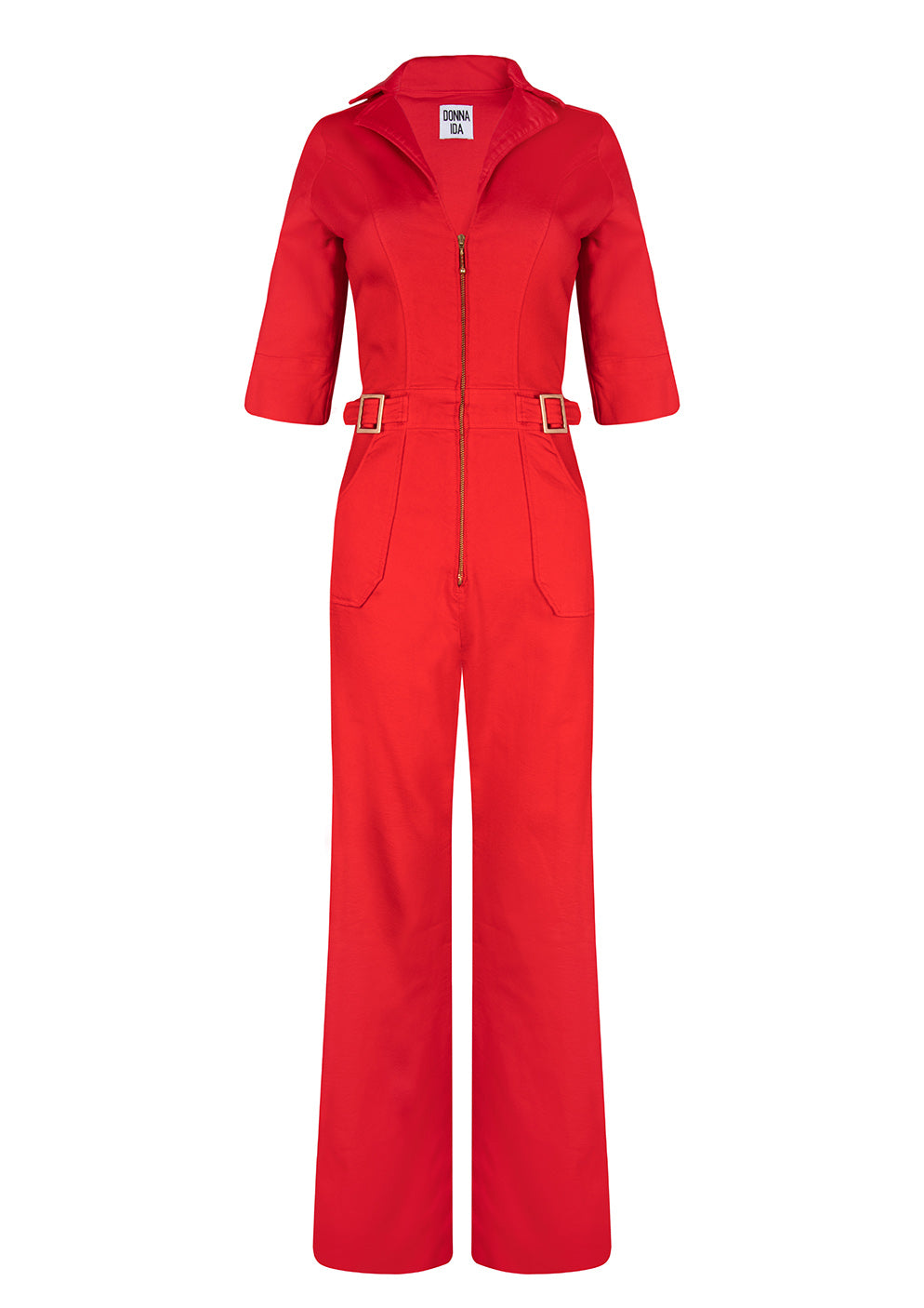 Cassandra The Flared Jumpsuit - Love That Red