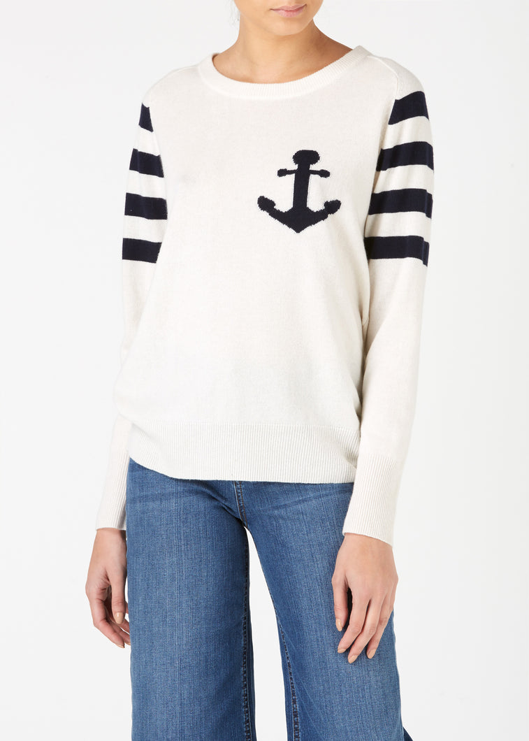 Ahoy There Cashmere Knit - Milk