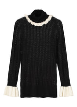 Bit Of Ruff Cashmere Polo Neck Knit - Noir