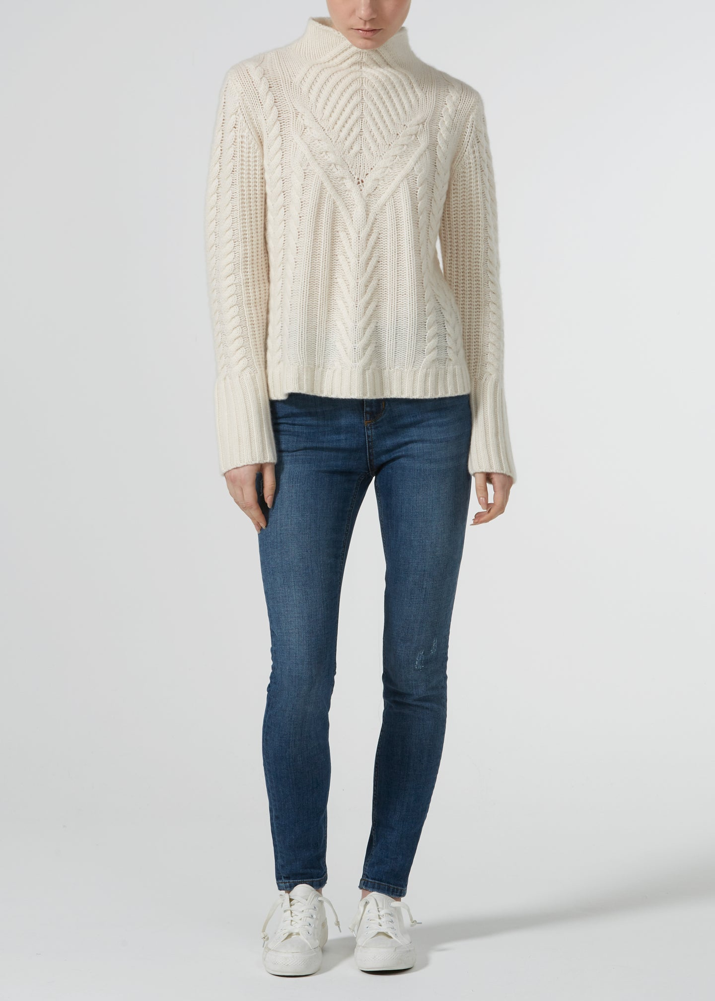 Cable Me Cashmere Knit - Milk