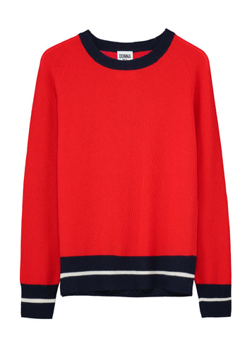 Game On Cashmere Jumper - Love That Red