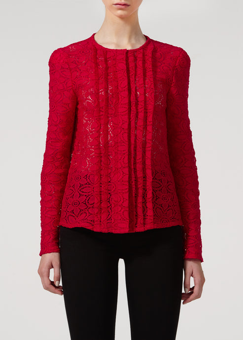 Greta Blouse - Love That Red Lace