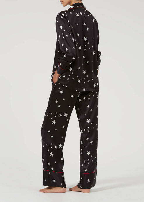 Lounge Lizard Silk Pyjamas - Star Crossed