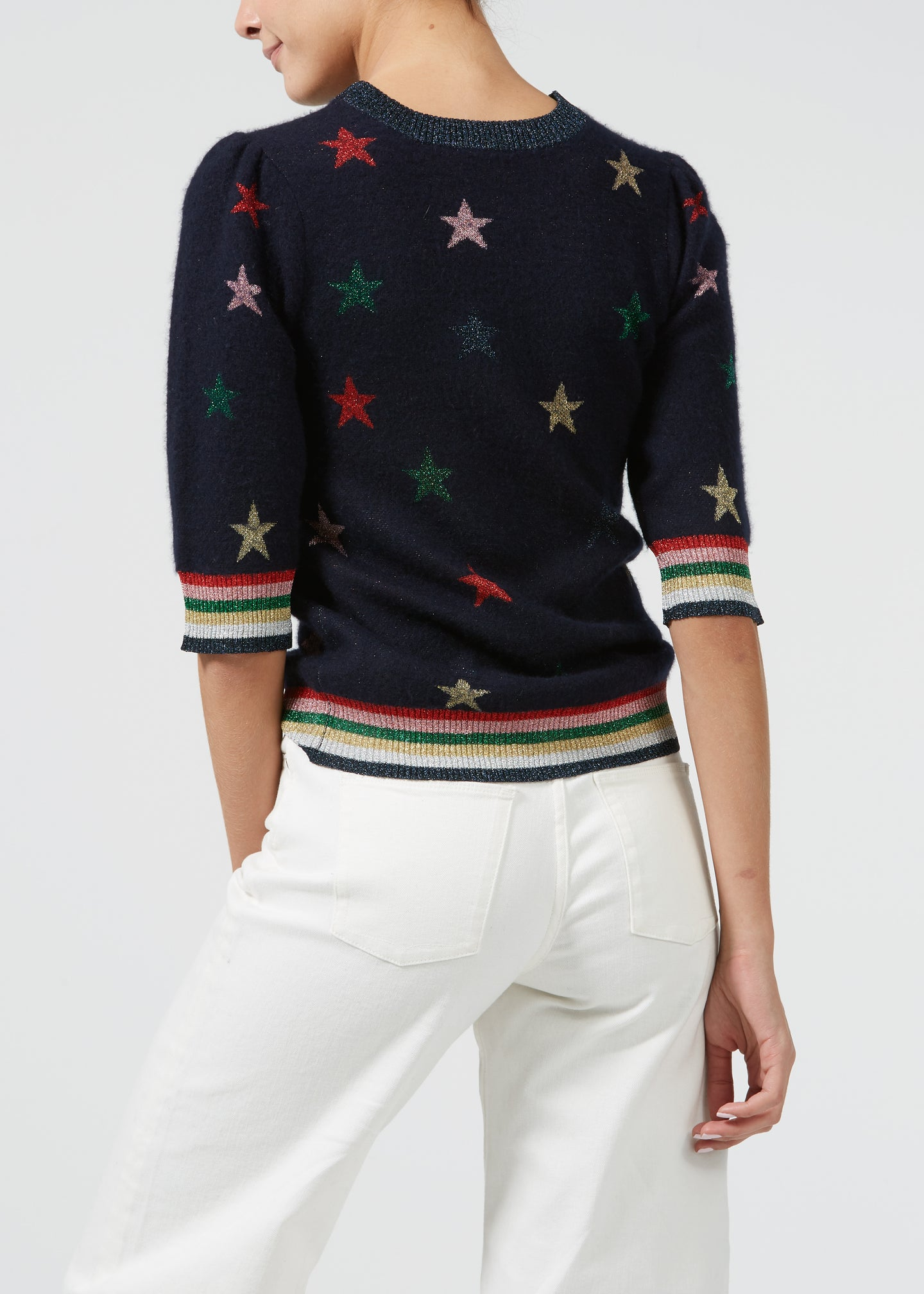 On Stage Cashmere Knit - Rainbow Luxe