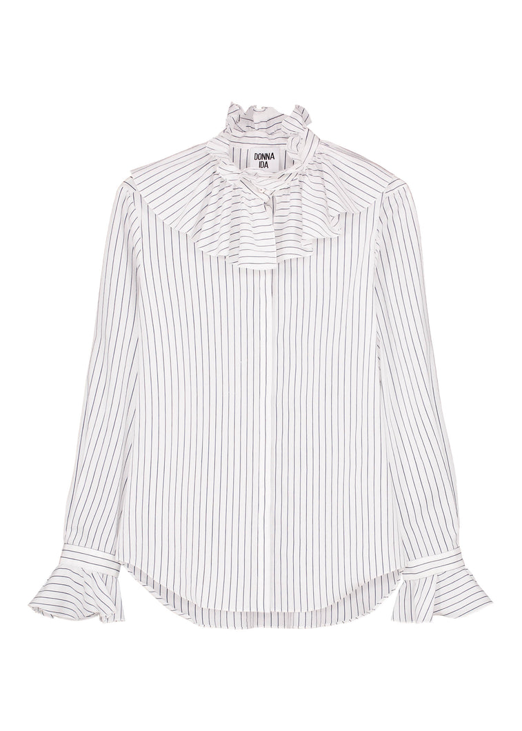 Playing Victoria Blouse - Liquorice Stripe