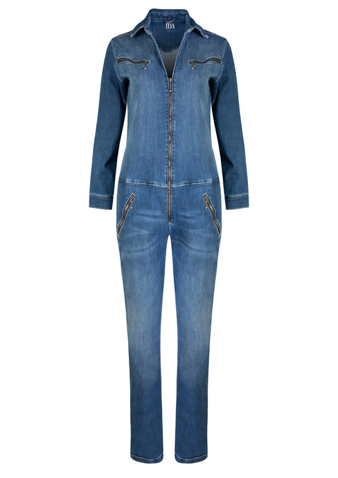 Dolly Flight Suit - Fawcett Blue