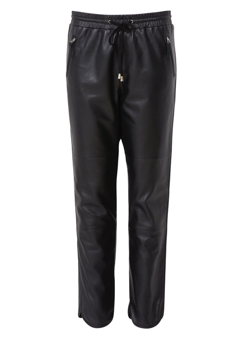 Ginger Leather Track Pant - Noir