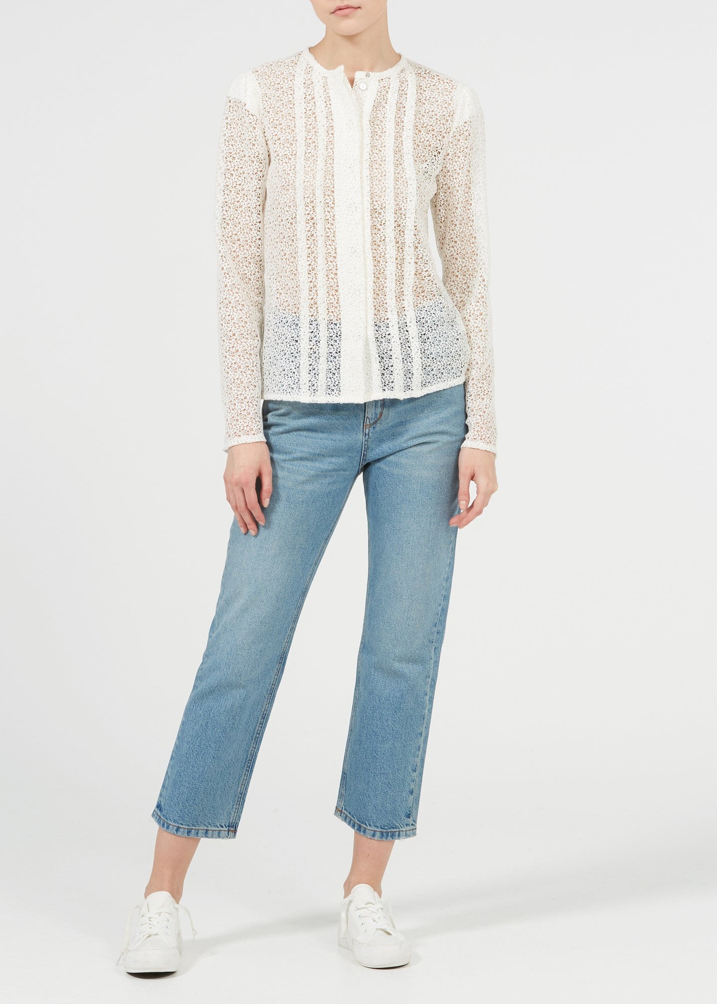 Greta Blouse - Milk Lace
