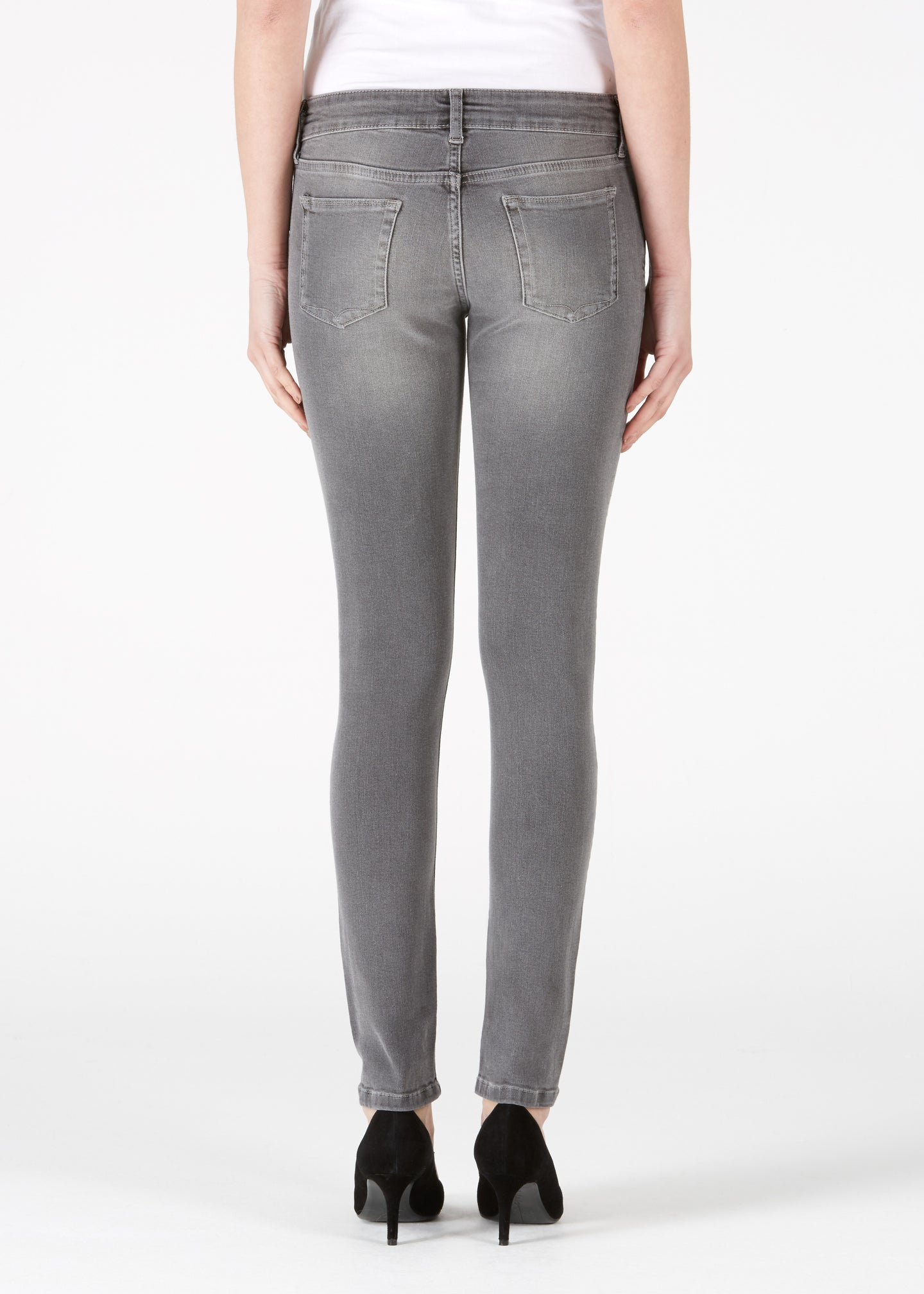 Honor Low Rise Ankle Skinny Jeans - Foggy London