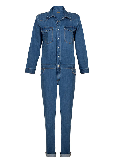 Sadie Boiler Suit - Starlight Blue