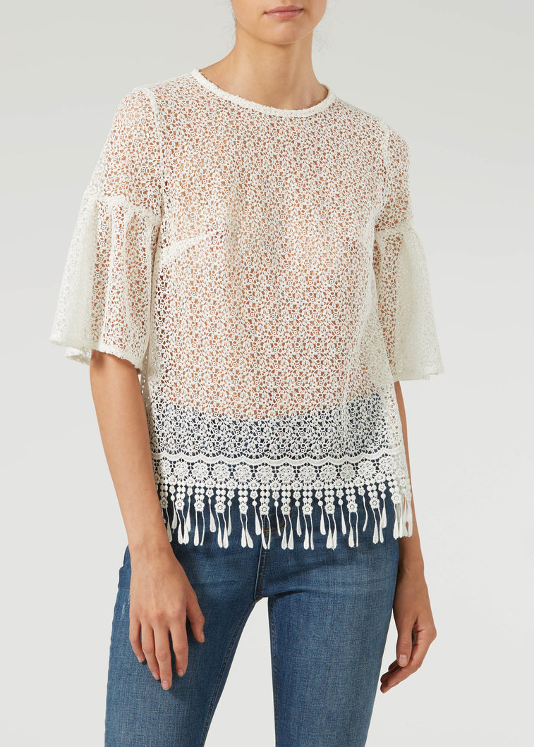 Arm Candy Blouse - Milk Lace