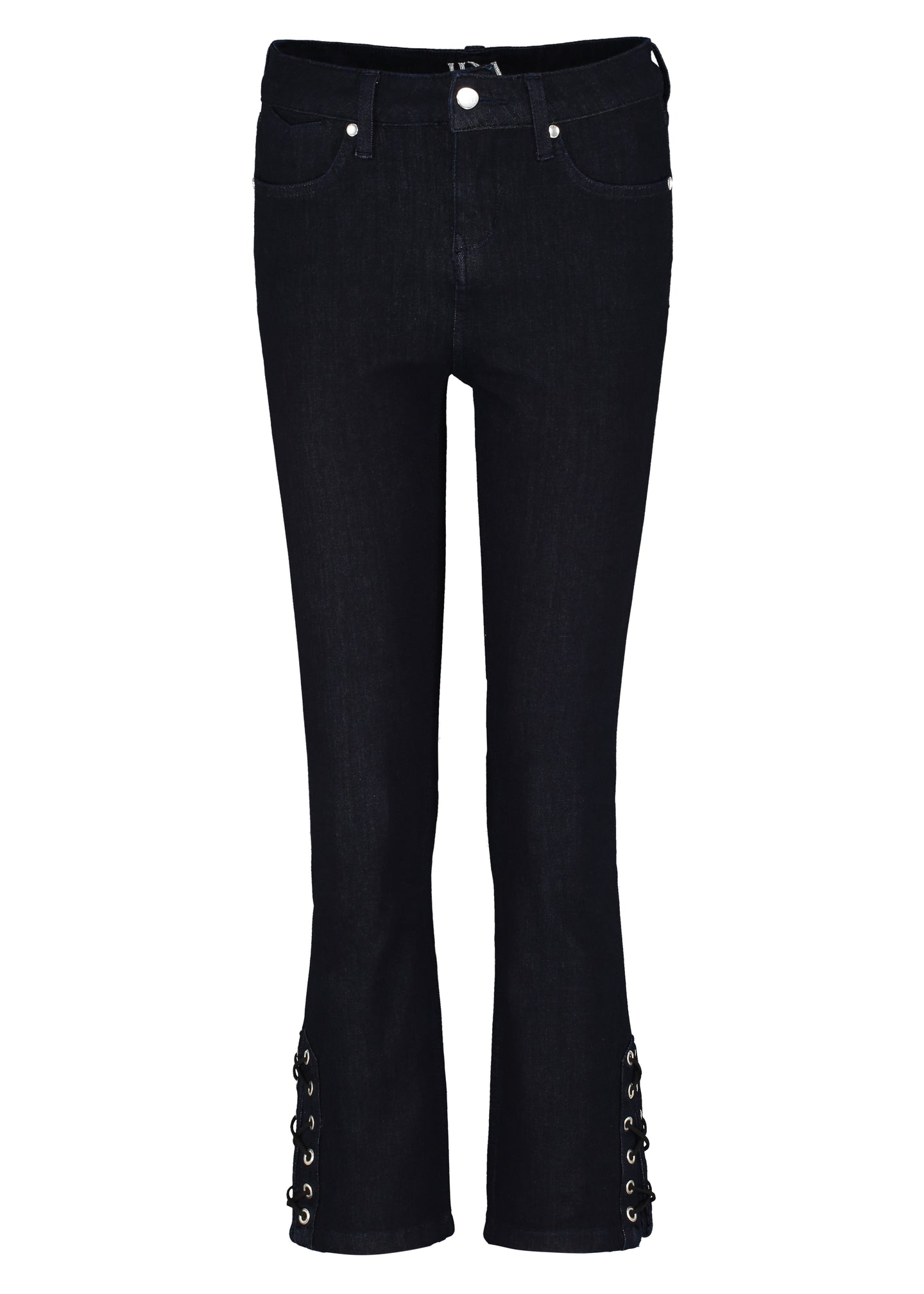 Lois Mini Boot Jeans - Deep Big Skies with Noir Lace Up