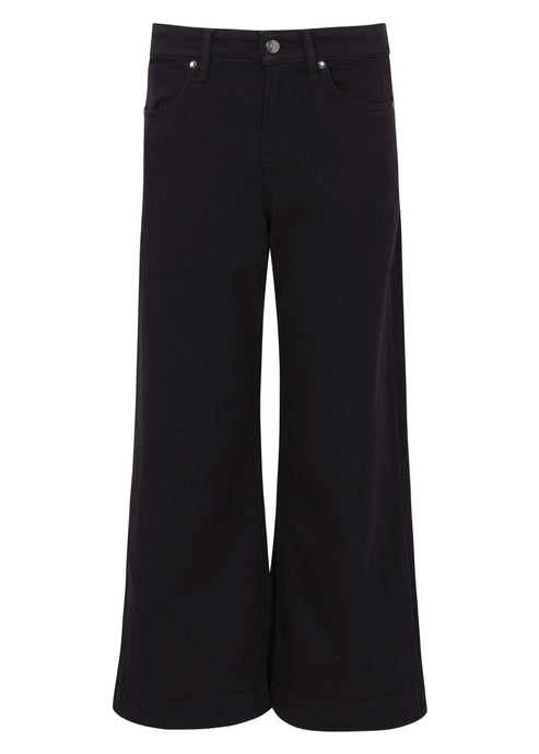 Margot Denim Culottes - Blackest