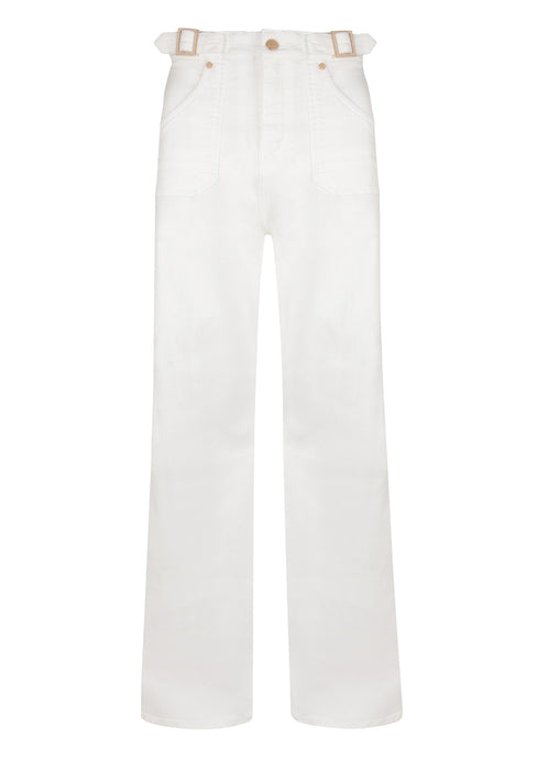 Minnie The High Top Flared Jeans - Milk