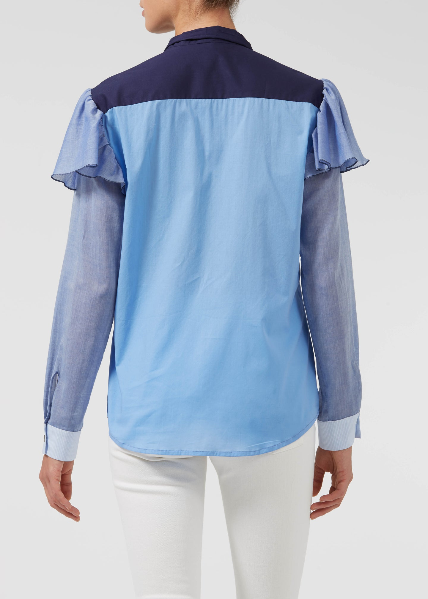 Tricked Up Maggie Blouse - Into The Blue