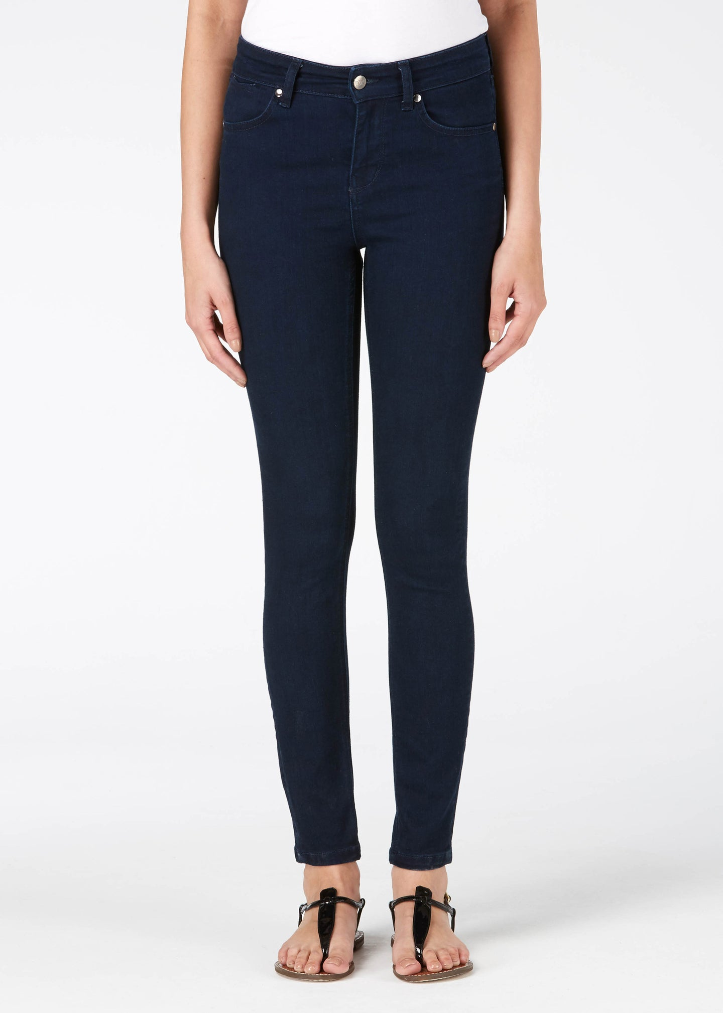 Rizzo High Top Ankle Skinny Jeans - Deep Sea