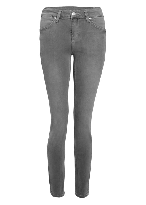 Rizzo High Top Ankle Skinny Jeans - Greystone