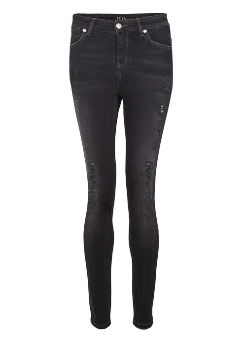 Rizzo High Top Ankle Skinny Jeans - Thunder