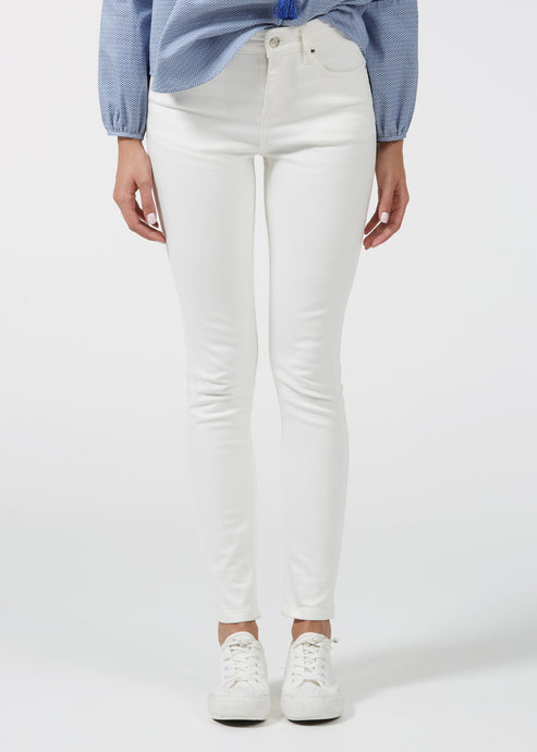 Rizzo High Top Ankle Skinny - Milk