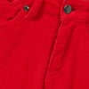 Rizzo High Top Ankle Skinny Jeans - Chinese Red Cord