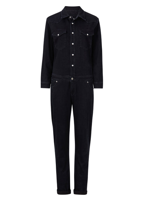 Sadie Boiler Suit - Barely Black
