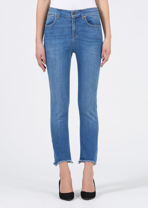 Sidney Cropped Straight Jeans - State Fair