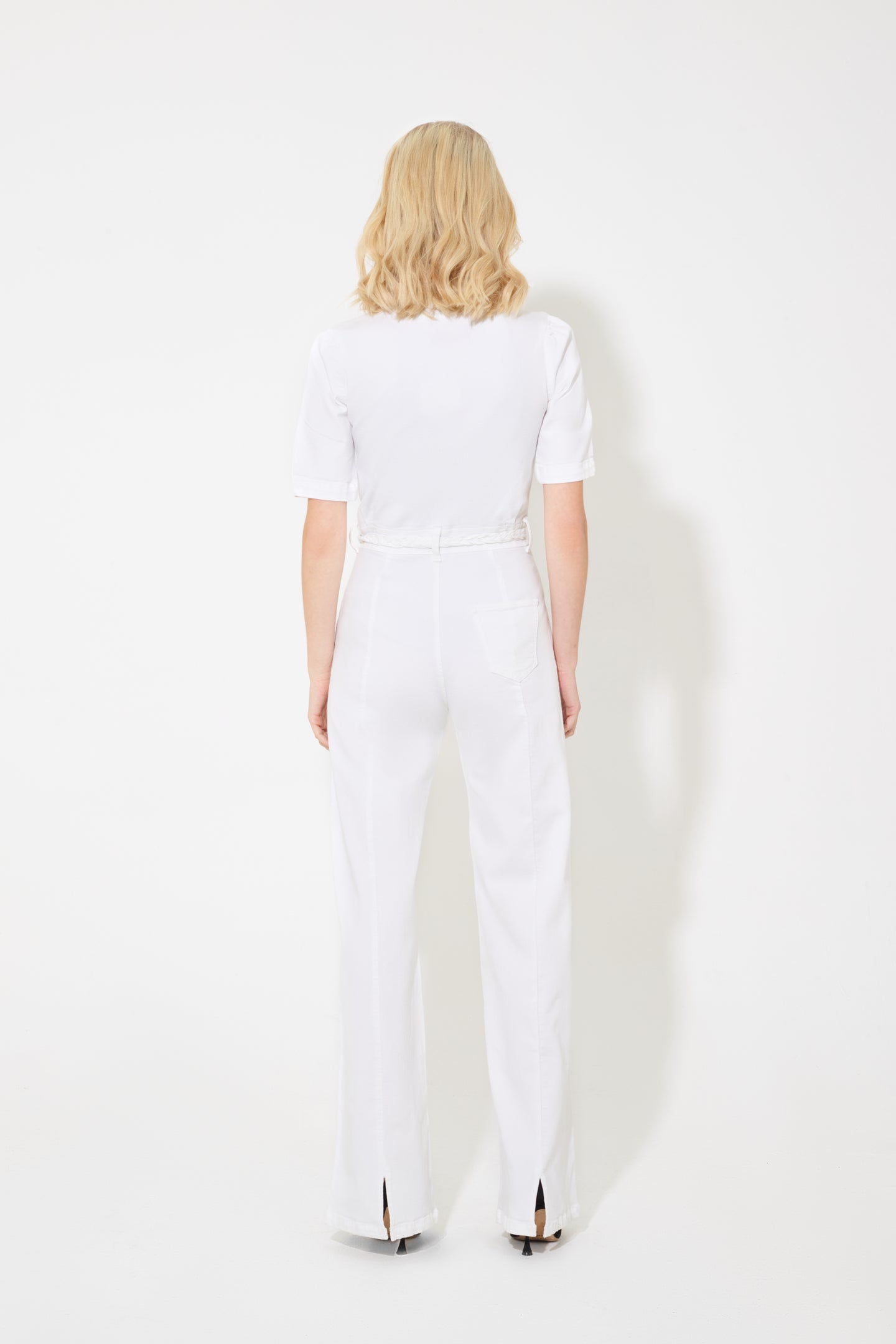 Faith The Belted Flared Jumpsuit - Ghost