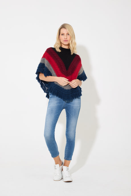 Most Faithful Poncho The Cropped Poncho - Kaleidoscope