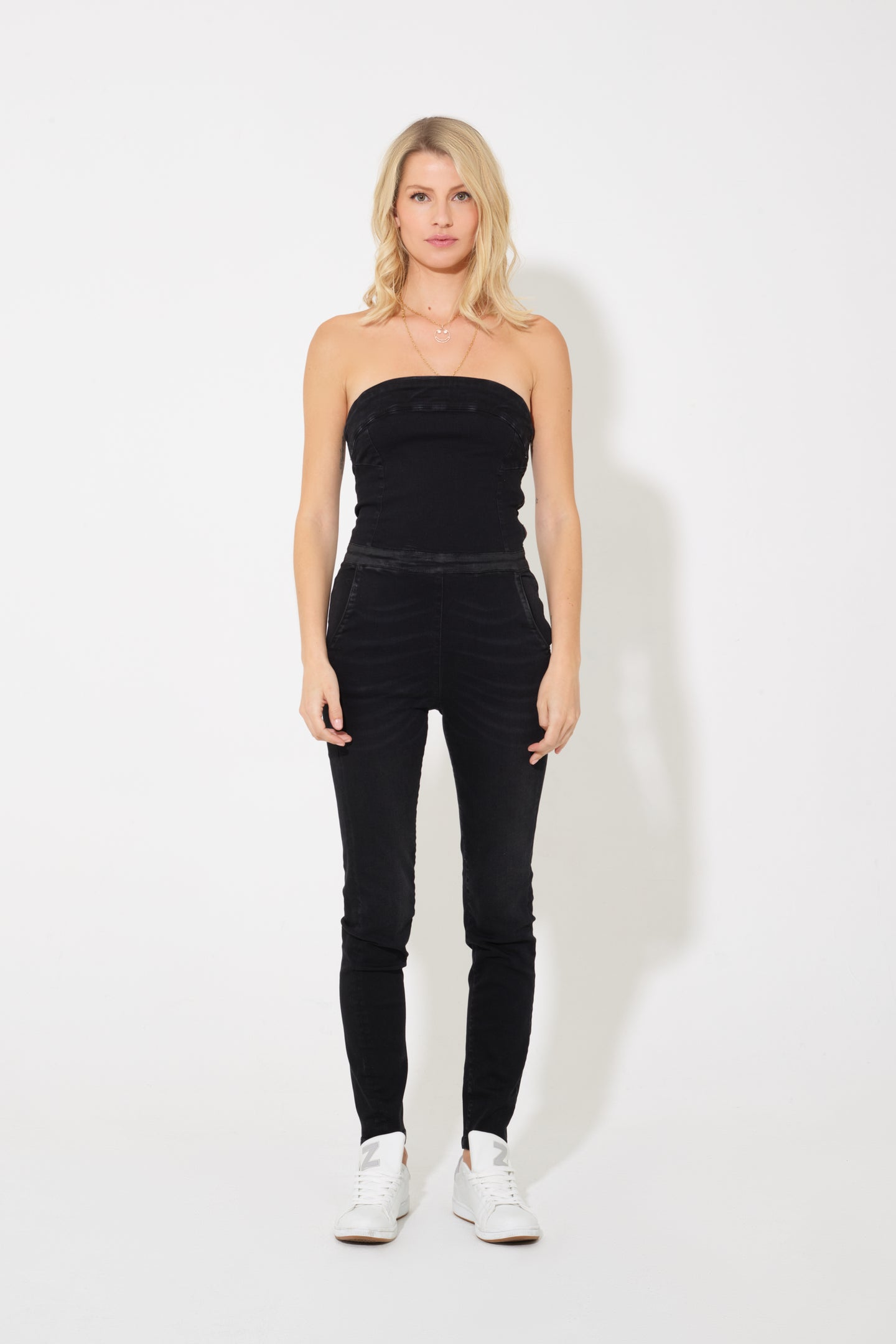 Olivia The Strapless Jumpsuit - Dark Days