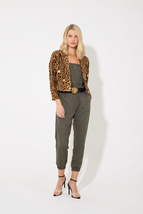 Harlow The Joyful Elasticated Jumpsuit - Safari So Good