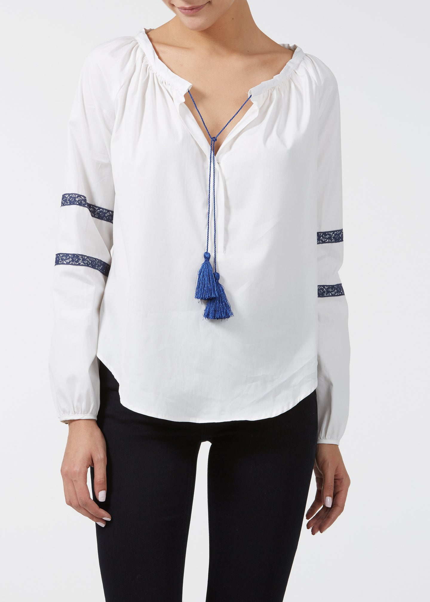 Walk On By Blouse - Milk Poplin